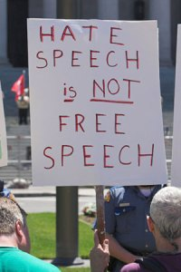 hate speech not free